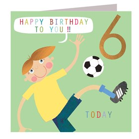 Football Crazy 6 Today Card by Kali Stileman