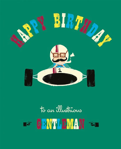 Gentleman Racing Birthday Card