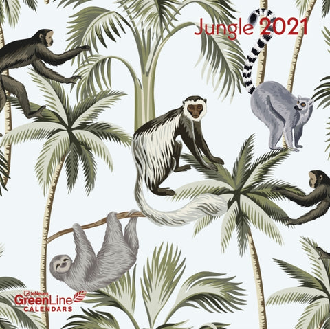 2021 Jungle GreenLine Grid Calendar