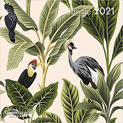 2021 Jungle GreenLine Mini Grid Calendar