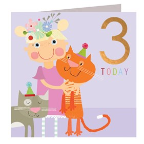Kittens 3 Today Card by Kali Stileman