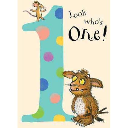 Gruffalo Look Who's One Card