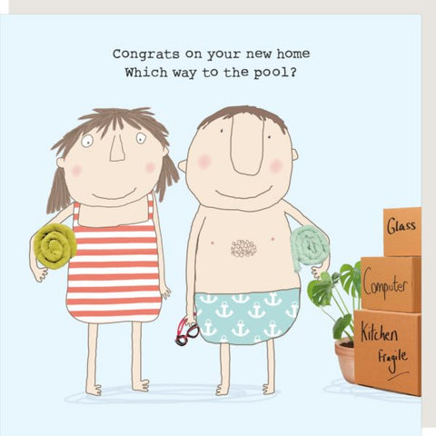 Pool New Home Card by Rosie
