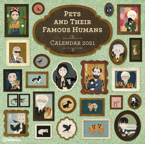 2021 Pets and Their Famous Humans Grid Calendar