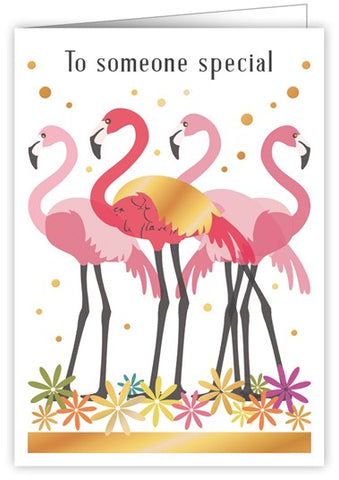 Flamingo Someone Special Card