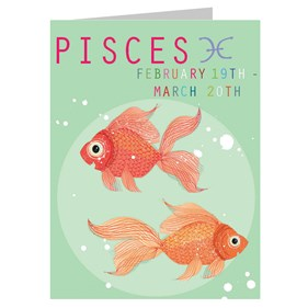 Star Sign Card - Pisces by Kali Stileman