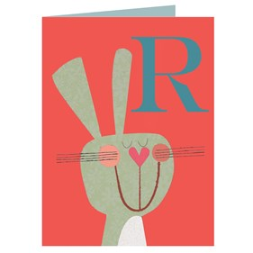 R for Rabbit Card by Kali Stileman