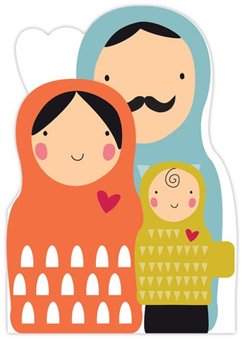 Paper Statue Russian Dolls Card