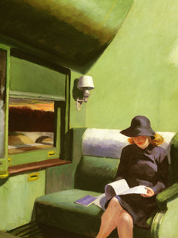 Compartment C, Car 293 Card by Edward Hopper