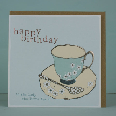 Happy Birthday Teacup Card