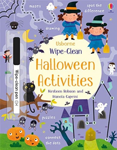Wipe-Clean Halloween Activities