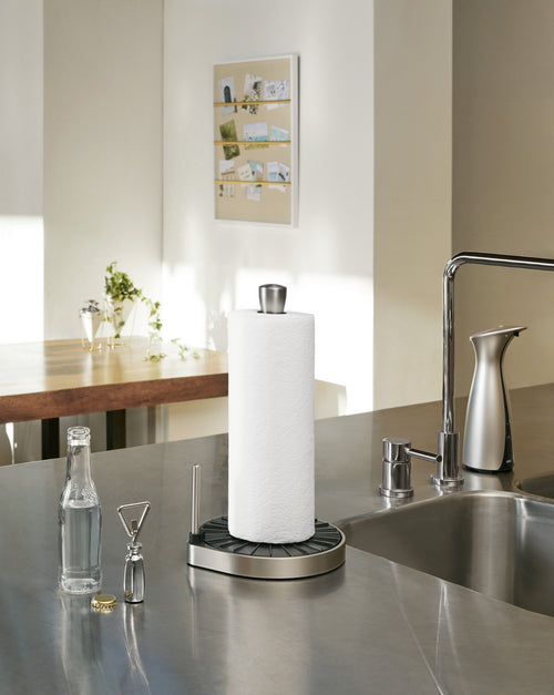Countertop Paper Towel Holders | color: Black-Nickel | Hover