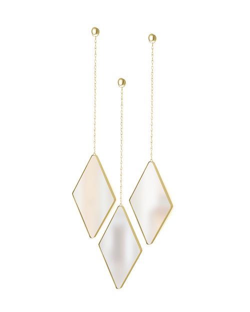 Wall Mirrors | color: Matte-Brass | size: 11x7In
