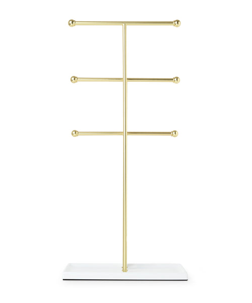 Jewelry Stands | color: White-Brass