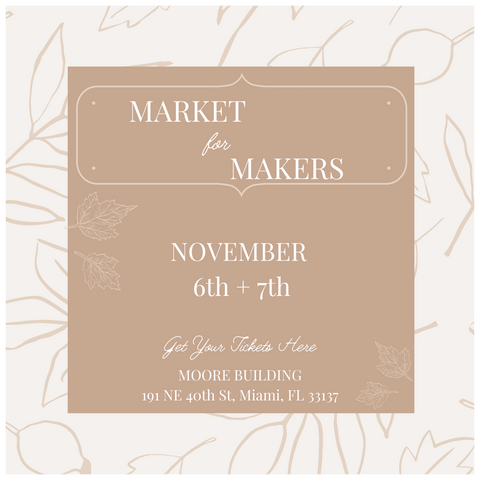 Market for Makers Event November 6 and 7