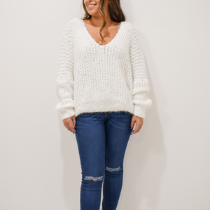 White Christmas Sweater - Love and Neutrals