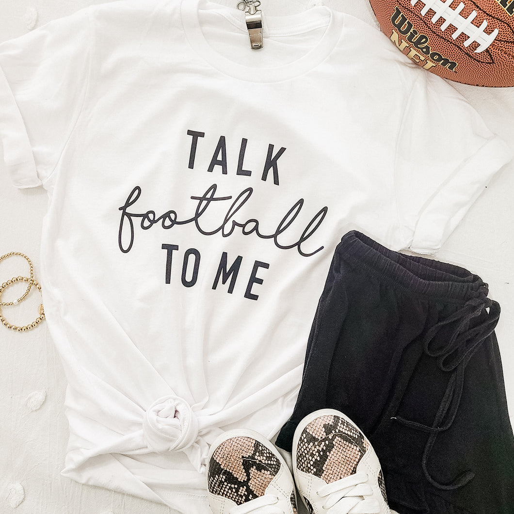 Talk Football To Me Tee - Love and Neutrals