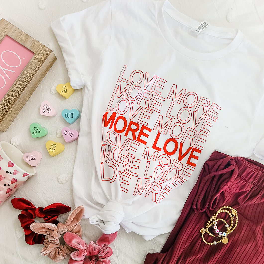 More Love Tee - Love and Neutrals