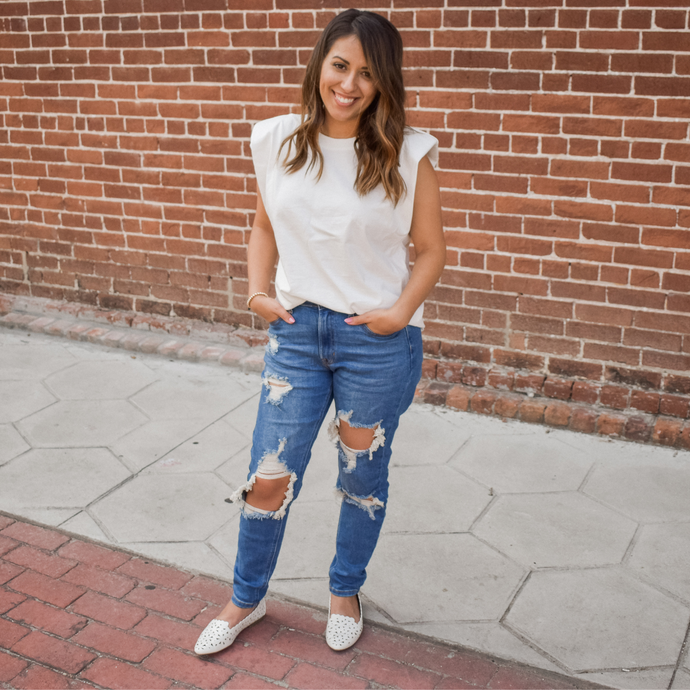 Angelina Mom Jeans - Love and Neutrals - Boutique