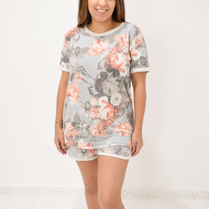 Blooming Floral Loungewear Set - Love and Neutrals