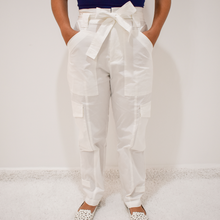 Load image into Gallery viewer, Cassie Paperbag Cargo Pants - Love and Neutrals