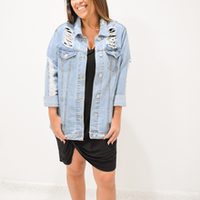 Load image into Gallery viewer, Emily Denim Jacket - Love and Neutrals - Boutique