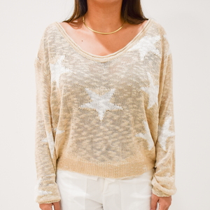 Feel Like a Star Sweater - Love and Neutrals - Boutique