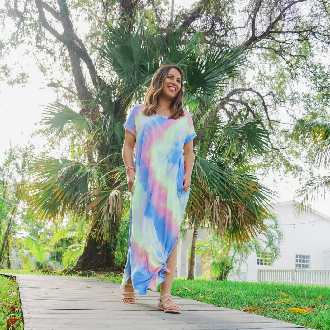 Goddess of the Rainbow Dress - Love and Neutrals - Boutique