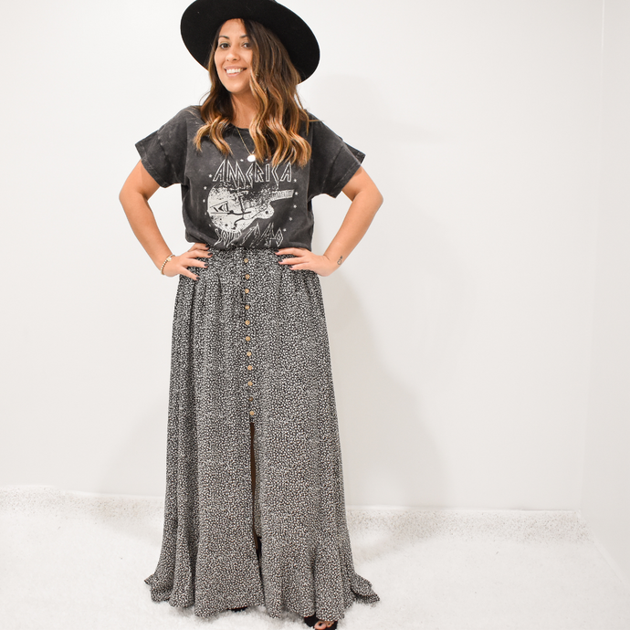 Just An Animal Maxi Skirt - Love and Neutrals - Boutique