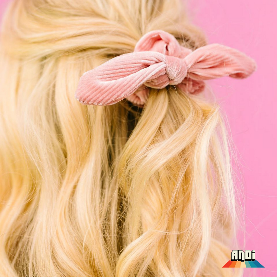 Light Pink Pleated Scrunchies of Hope - Love and Neutrals