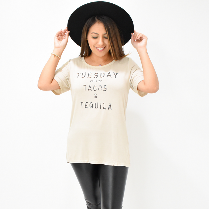 Taco Tuesday Tee - Love and Neutrals