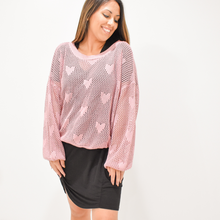 Load image into Gallery viewer, Wear Your Heart On Your Sleeve Sweater - Love and Neutrals - Boutique