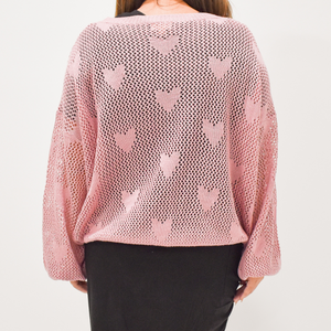 Wear Your Heart On Your Sleeve Sweater - Love and Neutrals - Boutique