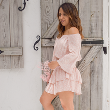 Load image into Gallery viewer, Wildflower Skort Romper - Love and Neutrals - Boutique