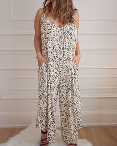 Abigail Walkabout Leopard Jumpsuit - Love and Neutrals - Boutique
