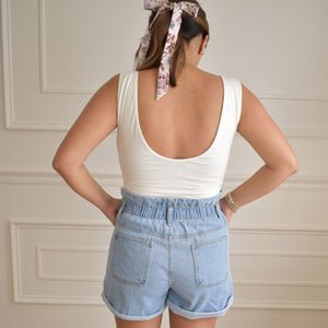 Aubrey Paperbag Shorts - Love and Neutrals - Boutique