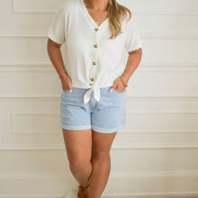 Load image into Gallery viewer, Callie Front Tie Top - Love and Neutrals - Boutique