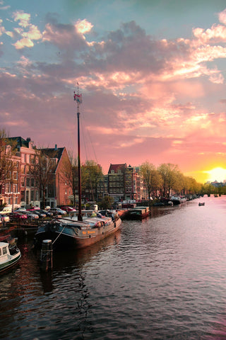 Amsterdam Sundown On The Amstel