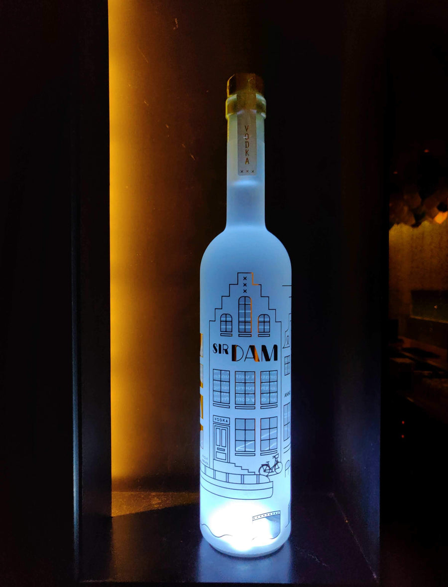 Sir Dam Premium Vodka 0,7 LED - White - Amsterdam Vodka | Official Sir Dam webshop