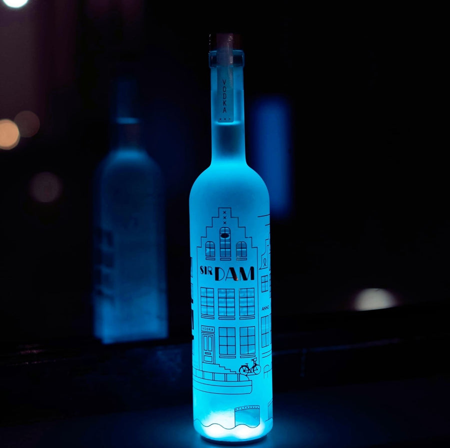 5 + 1 Gratis Package | Sir Dam Premium Vodka 0,7 LED | Multicolor - Amsterdam Vodka | Official Sir Dam webshop