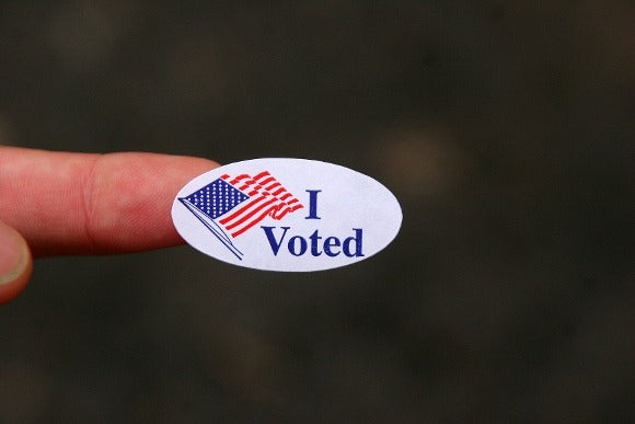The 'I Voted' sticker: a badge of privilege
