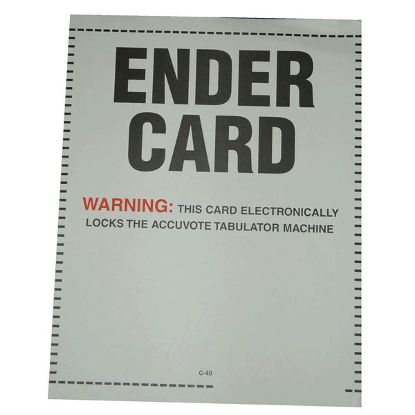 Ender Card for AccuVote®