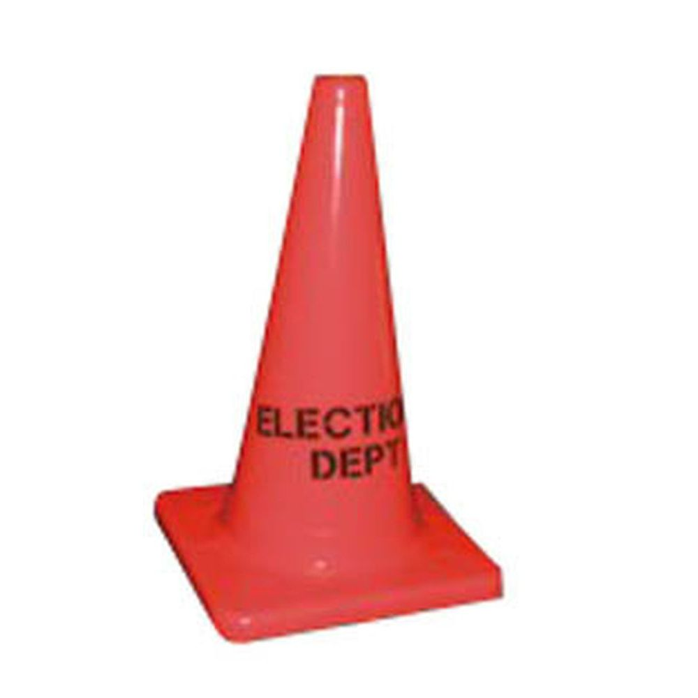 18 Inch Elections Dept Traffic Cone - 10 PACK