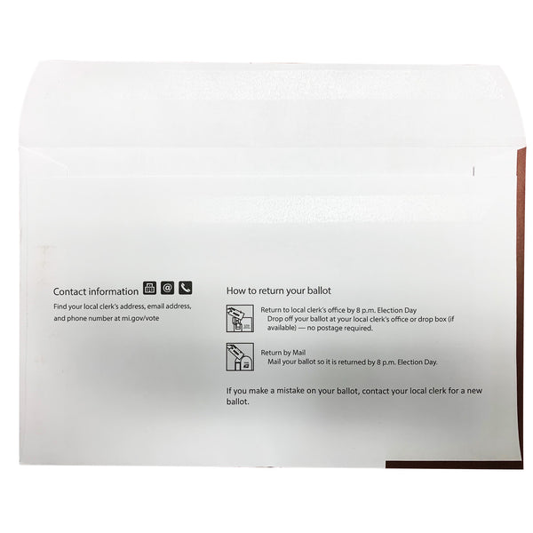 Absent Voter Outgoing Envelope (Airmail)