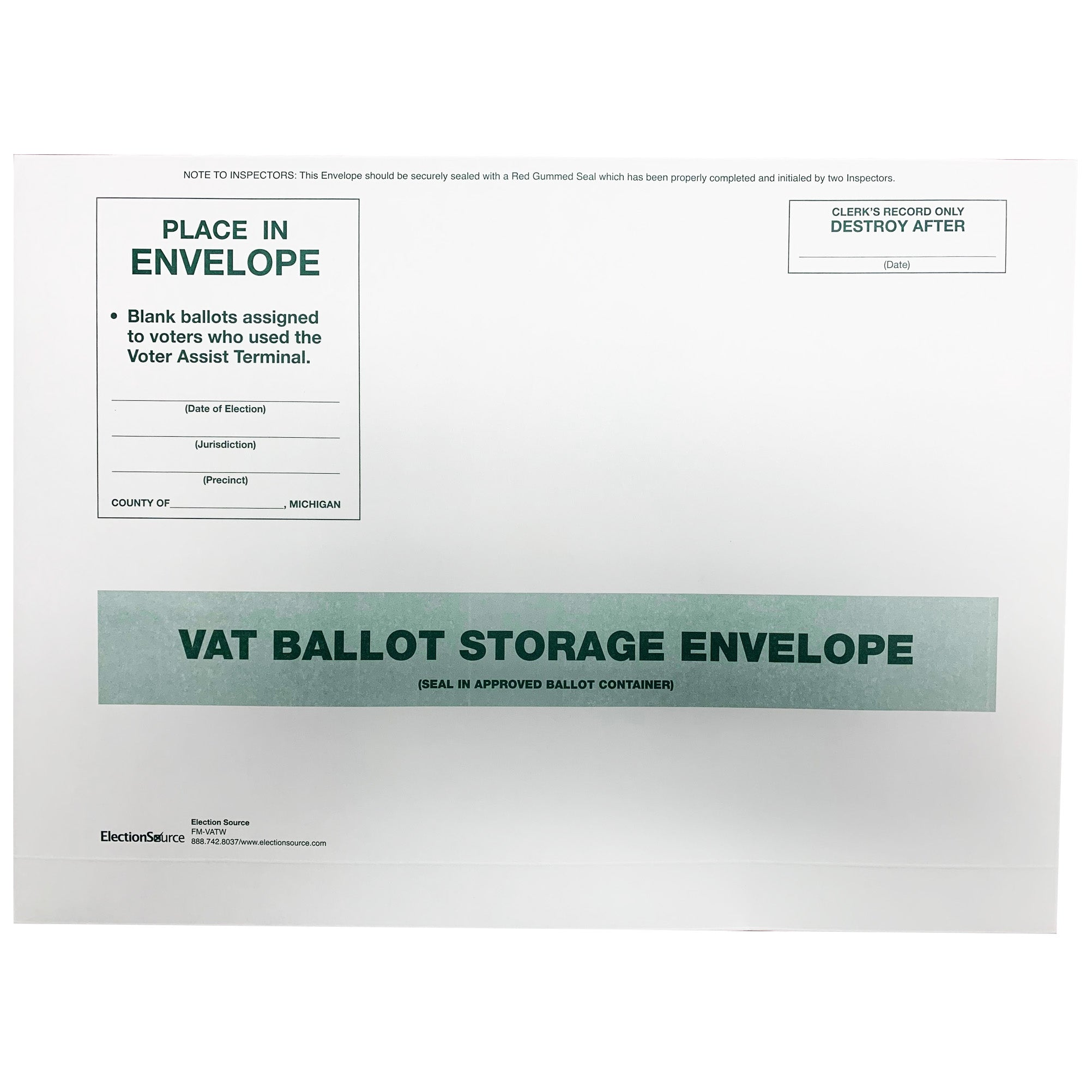 VAT Storage Envelope
