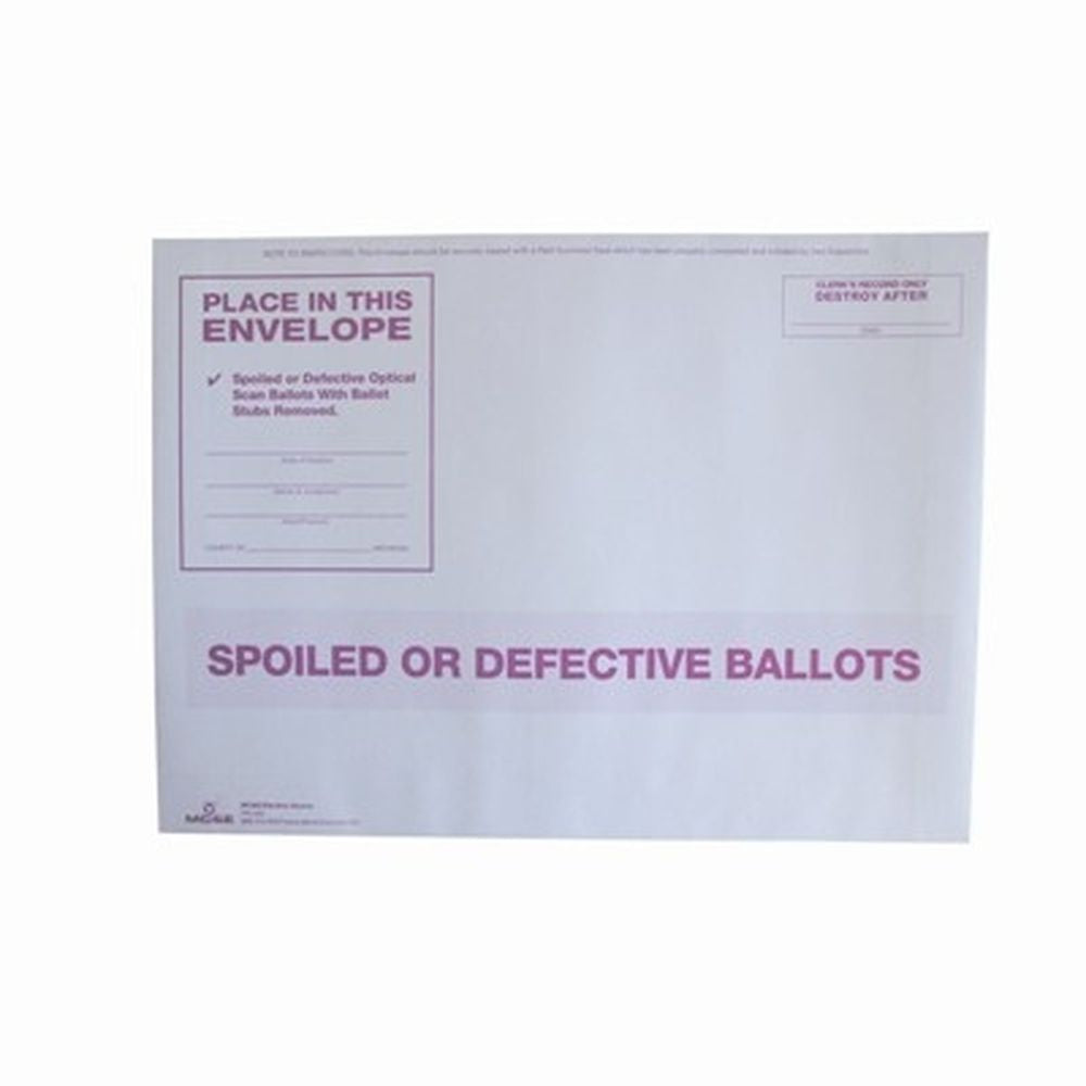 Spoiled or Defective Ballots, White Envelope