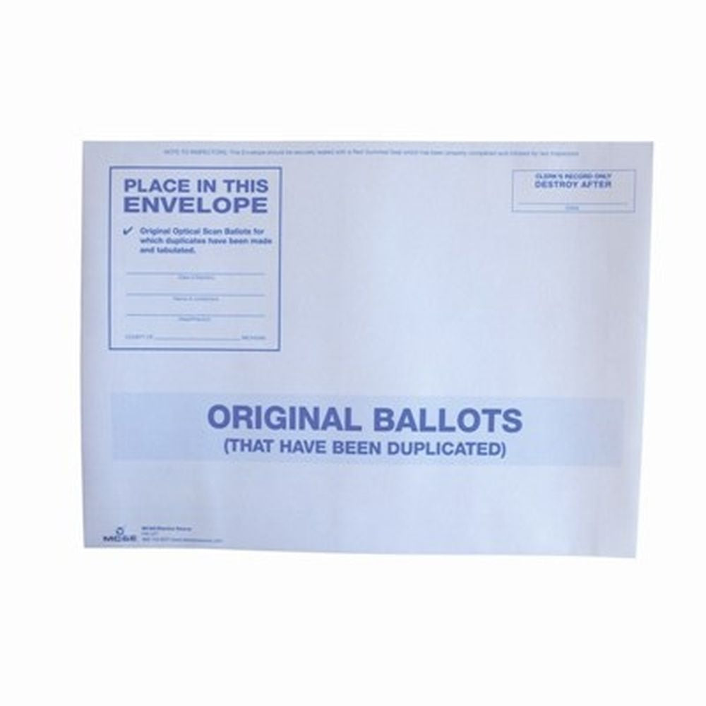 Original Ballots, White Envelope