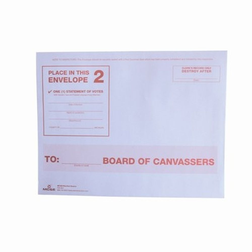 Number 2: To Board of Canvassers, White Envelope