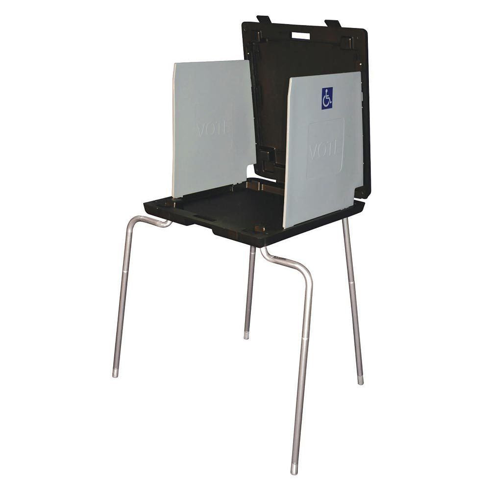 HCP Select Deluxe Voting Booth, With Handicap Legs & LED Lights.
