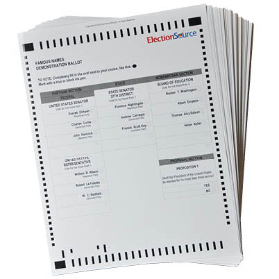 ICP Famous Names Demo Ballots